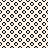 Simple Floral Pattern. Vector Minimalist Seamless Texture With Small Cross Shapes. Abstract Minimal  poster