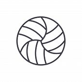 Volleyball Competitions Black Icon Concept. Volleyball Competitions Flat  Vector Website Sign, Symbo poster
