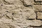Full Frame Image Of Putty Brick Wall Background poster