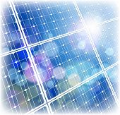 Cielo de panel & azul de energía solar. Mapa de bits copiar mi ID 64890427 del vector