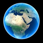 image of saudi arabia  - Planet Earth featuring Europe Africa and the Middle East - JPG