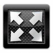 Extend arrow metal icon