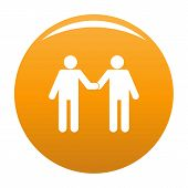 Agreement Icon. Simple Illustration Of Agreement Vector Icon For Any Design Orange poster