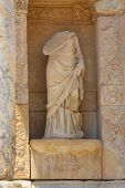 Antique statue in Celsus library
