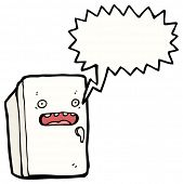 cartoon shocked refrigerator
