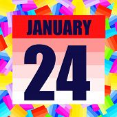 January 24 Icon. For Planning Important Day. Banner For Holidays And Special Days. January Twenty-fo poster