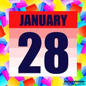 January 28 Icon. For Planning Important Day. Banner For Holidays And Special Days. January 28th. Vec poster