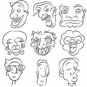 foto of sad man  - An image of a cartoon face set - JPG