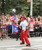NEW YORK CITY, USA - JUNE 10: The annual Puerto Rican Day Parade in NYC honoring the inhabitants of
