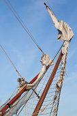 Rigging Bowsprit Of Big Sailing Ship