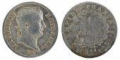 1811, France 1st Empire, Napoleon I. Silver Coin. 1 Franc. poster