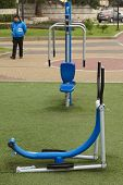 Fitness Equipment in Park in Lima, Peru
