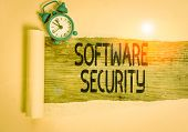 Text Sign Showing Software Security. Conceptual Photo Implemented To Protect Software Against Malici poster