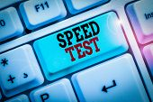 Word Writing Text Speed Test. Business Concept For Psychological Test For The Maximum Speed Of Perfo poster