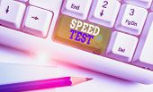 Text Sign Showing Speed Test. Conceptual Photo Psychological Test For The Maximum Speed Of Performin poster