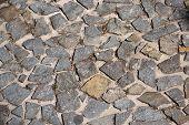 Stony pavement