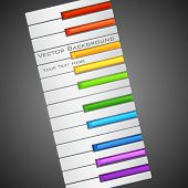 picture of rainbow piano  - illustration of piano key with rainbow color - JPG