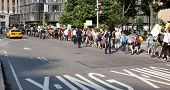 NEW YORK-JUNE 22: Supporters march along 8th Avenue during the 8th Annual Trans Day of Action on Jun
