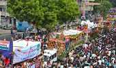 135Th Rathyatra Festival Crowd On The Streets