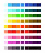 Color Spectrum Different Colors. Colour Table Palette, Ligths And Shades For Cartoon Design. poster