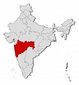 Map Of India, Maharashtra Highlighted