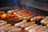brats grilling