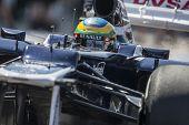 VALENCIA, SPAIN - JUNE 23: Bruno Senna in the Formula 1 Grand Prix of Europe, Valencia Street Circui