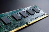 Computer Ram Random Access Memory Modules Are Located Diagonally On A Black Background For The Image poster