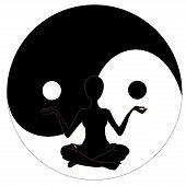 yin yang symbol and Yoga