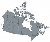 Map Of Canada, Prince Edward Island Highlighted