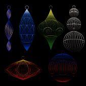 Wire Xmas Ornaments