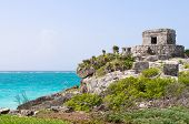 Ancient Mayan Ruins In Tulum, Mexico