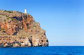 pic of mola  - Formentera Faro de la Mola lighthouse view from sea - JPG