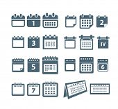 Different styles of calendar web icons collection