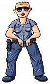 Постер, плакат: Мультфильм полицейский с Блонд Бусс cut