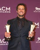 LAS VEGAS - MAR 7:  Luke Bryan in the press room at the 2013 Academy of Country Music Awards at the