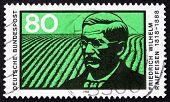 Postage Stamp Germany 1988 Friedrich Wilhelm Raiffeisen