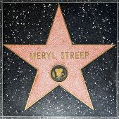 Meryl Streeps estrela Hollywood Walk Of Fame