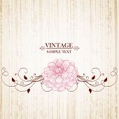 Vintage floral Background mit Blumen Dahlie. Element für Design.