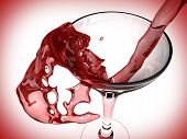 Red Wine And Wine Glass