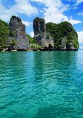rocks and sea in Krabi