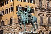Florence - The equestrian statue of Cosimo I de Medici
