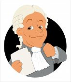 foto of magistrate  - Drawing Art of Cartoon Magistrate Character Vector Illustration - JPG