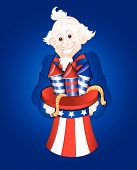 Uncle Sam with Fireworks Vector