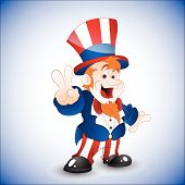 Patriotic Uncle Sam Vector Illustration