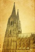 view of Gothic Cathedral in Cologne (K�?�?�?�¶ln), Germany