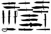 Combat Knives Silhouettes