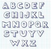 Scribble alphabet.