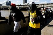LONDON, SEPTEMBER 22: Great Gorilla Run to help save a species on the edge of extinction on Septembe