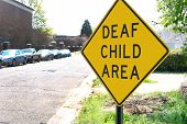 Deaf Child Traffic Sign